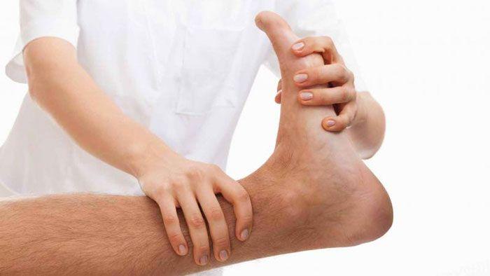Физиотерапия при растяжение связок голеностопного сустава